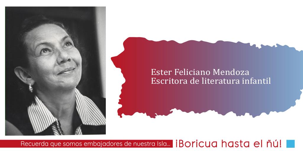 Ester Feliciano: Una escritora para niños