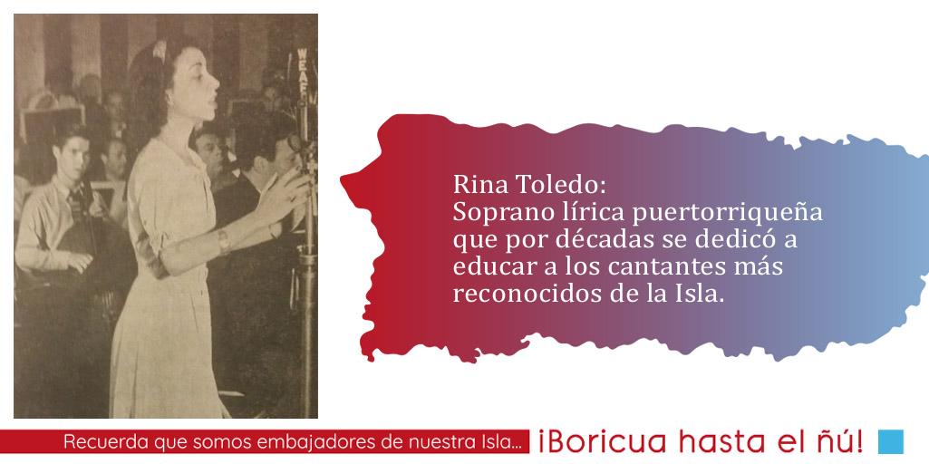 Rina Toledo: la voz y el magisterio